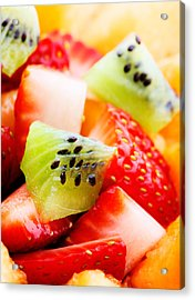 Fruit Salad Macro Acrylic Print by Johan Swanepoel