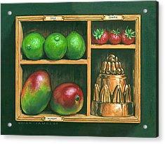 Fruit Shelf Acrylic Print by Brian James