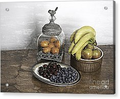 Fruit Still Life Acrylic Print by Lesley Rigg