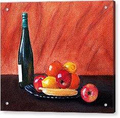 Fruits And Wine Acrylic Print by Anastasiya Malakhova