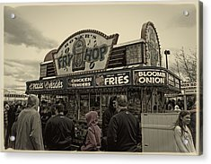 Fry Hop Acrylic Print by Tom Gari Gallery-Three-Photography