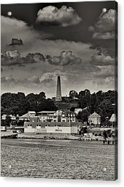 Ft Griswald Monument Black And White Acrylic Print by Joshua House
