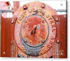 Ft Worth Steel Acrylic Print by Angela Wright