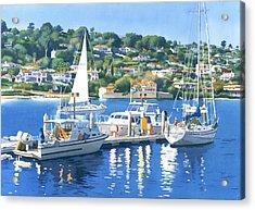 Fuel Dock Shelter Island San Diego Acrylic Print by Mary Helmreich