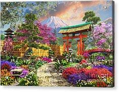 Fuji Flora Acrylic Print by Dominic Davison