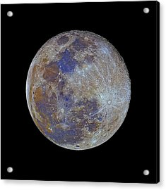 Full Moon Acrylic Print by Luis Argerich