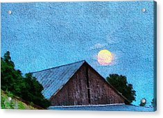 Full Moon On The Farm Acrylic Print by Dan Sproul