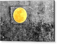 Full Moon Acrylic Print by Rebecca Sherman