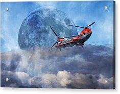 Full Moon Rescue Acrylic Print by Betsy C Knapp