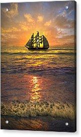 Full Sail Acrylic Print by Debra and Dave Vanderlaan