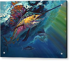 Full Sail Acrylic Print by Savlen Art