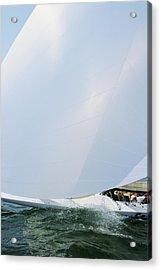 Full Spinnaker - Lake Geneva Wisconsin Acrylic Print by Bruce Thompson