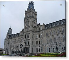 Full View Of Quebec's Parliament Building Acrylic Print by Lingfai Leung
