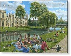 Fun On The River Cam Cambridge Acrylic Print by Richard Harpum
