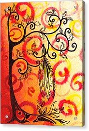 Fun Tree Of Life Impression II Acrylic Print by Irina Sztukowski