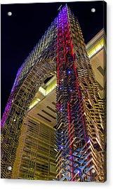 Funky Elevator Acrylic Print by Mario Legaspi