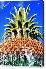 Funky Fountain Acrylic Print by Tammy Wallace