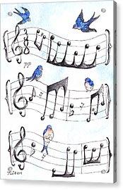 Fur Elise Song Birds Acrylic Print by Theresa Stinnett