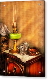 Furniture - Lamp - The Gas Lamp Acrylic Print by Mike Savad