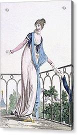 Furtive Correspondance, Illustration Acrylic Print by Philibert Louis Debucourt