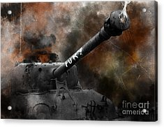 Fury Acrylic Print by J Biggadike