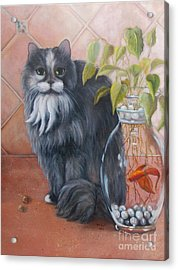 Fuzz And Homer Acrylic Print by Marlene Book