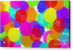 Fuzzy Polka Dots Acrylic Print by Andee Design