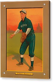 Gabby Street Baseball Card 1911 Acrylic Print by Mountain Dreams