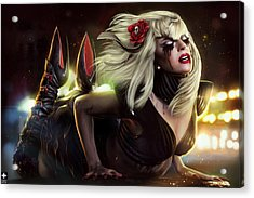 Gaga Acrylic Print by Omri Koresh