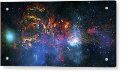 Galactic Storm Acrylic Print by The  Vault - Jennifer Rondinelli Reilly