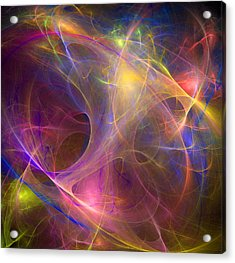 Galaxie Fractale -01 Acrylic Print by RochVanh