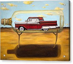 Galaxie In A Bottle Acrylic Print by Leah Saulnier The Painting Maniac