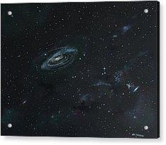 Galaxy Acrylic Print by Ken Ahlering