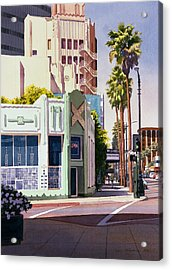 Gale Cafe On Wilshire Blvd Los Angeles Acrylic Print by Mary Helmreich