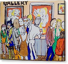 Gallery Opening  Acrylic Print by James Christiansen