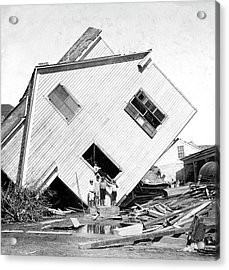 Galveston Hurricane Damage Acrylic Print by Library Of Congress