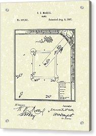 Game 1887 Patent Art Acrylic Print by Prior Art Design