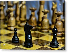 Game Of Chess Acrylic Print by Paul Ward