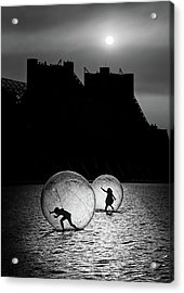 Games In A Bubble Acrylic Print by Juan Luis Duran