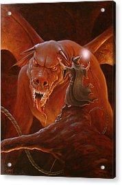 Gandalf Fighting The Balrog Acrylic Print by John Silver