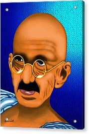 Gandhi Acrylic Print by Charles Smith