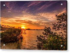 Gandy Sunset Acrylic Print by Marvin Spates