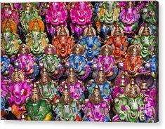Ganesha Statue Pattern Acrylic Print by Tim Gainey