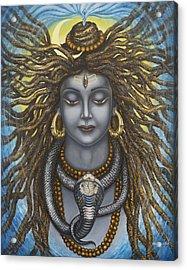 Gangadhara Shiva Acrylic Print by Vrindavan Das
