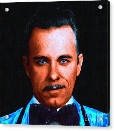 Gangman Style - John Dillinger 13225 - Black - Painterly Acrylic Print by Wingsdomain Art and Photography