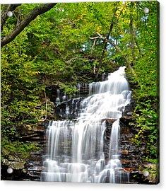 Ganoga Falls Ricketts Glen Acrylic Print by Frozen in Time Fine Art Photography