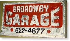 Garage Grunge Acrylic Print by Dorothy Menera