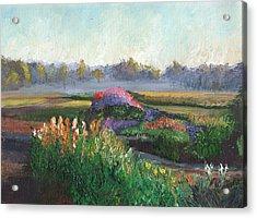 Garden At Sunrise Acrylic Print by William Killen