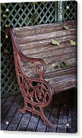 Garden Chair Acrylic Print by Carlos Caetano