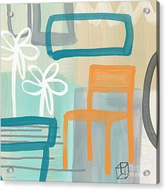 Garden Chair Acrylic Print by Linda Woods